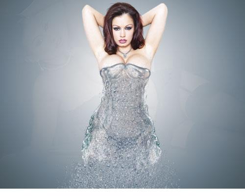 Новинка моды: платье с 3D-эффектом