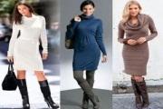 Модные теплые платья 2013 года