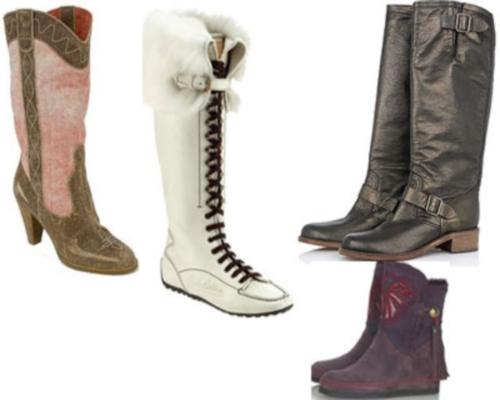 Модные и красивые зимние сапоги