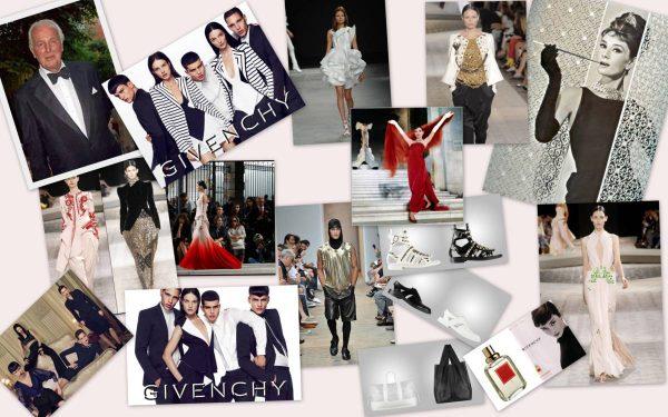 Фотоколлаж из фотографий бренда Givenchy