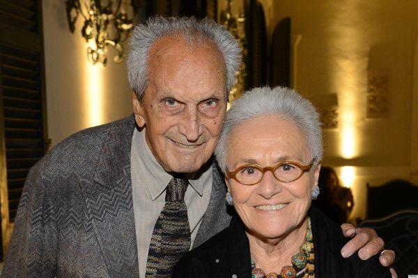 Оттавио Миссони с женой
