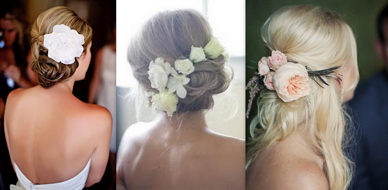 Свадебные прически цветы в волосах
