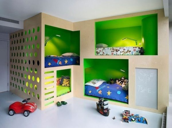Выбор удачного расположения для детской комнаты