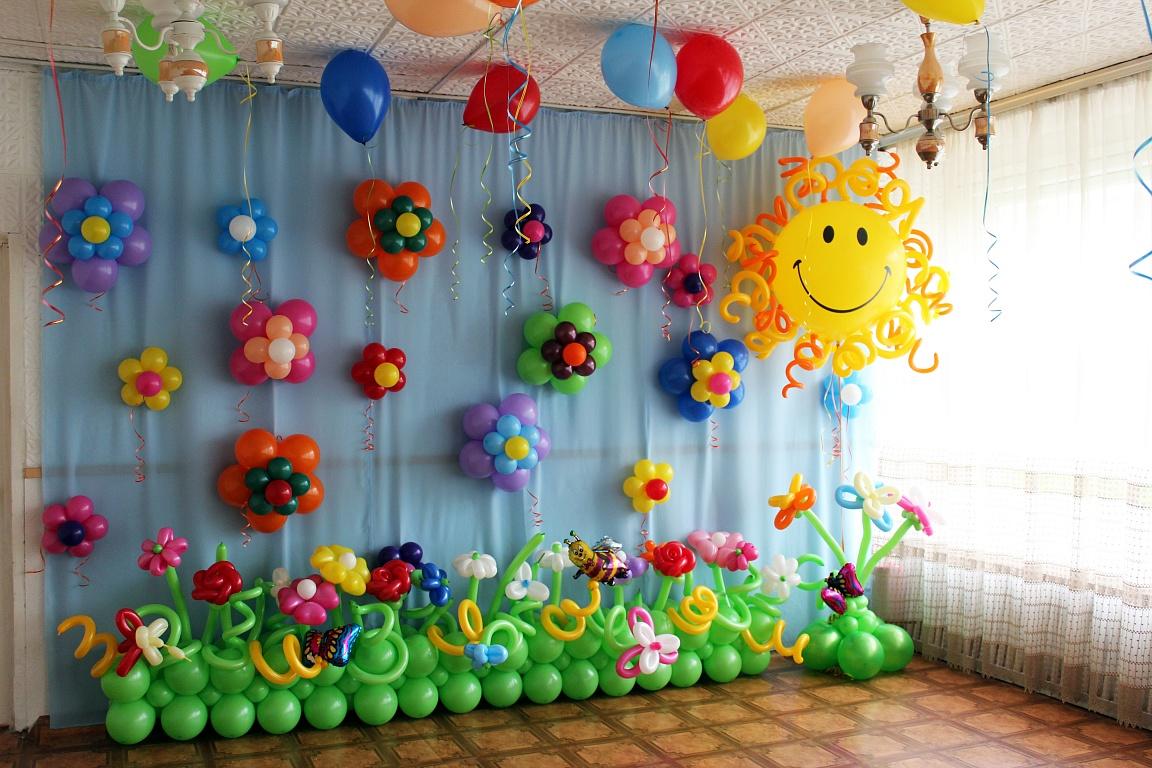 Украшение детского сада на выпускной фото