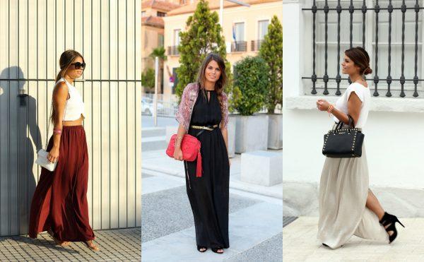 Выбор юбки макси: материал и крой в соответствии со вкусами