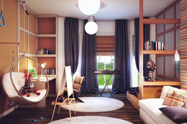 Фото дизайна интерьера детской комнаты для мальчика