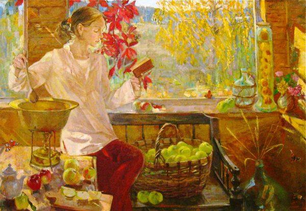Такие разные радости осени: дождь, печь, яблоки