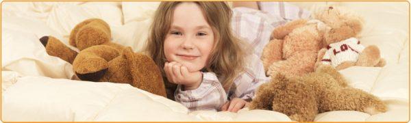 Девочка в хлопковом одеяле