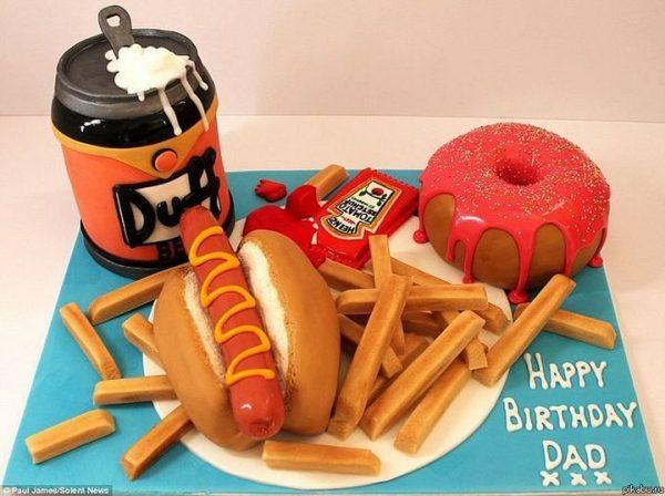 Торт на День рождения обжоры