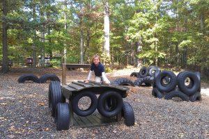 Элементы детской площадки из использованных покрышек: время весенних усовершенствований