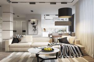 Гостиная в стиле модерн — как правильно оформить
