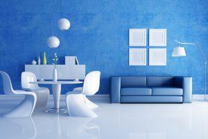 Интерьер в синих оттенках: сочетание цветов